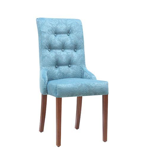Čalouněné židle MARTA K s ozdobnými knoflíky a rozšířeným opěradlem