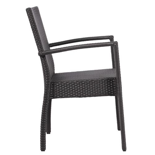 Zahradní židle s područkou stohovatelné