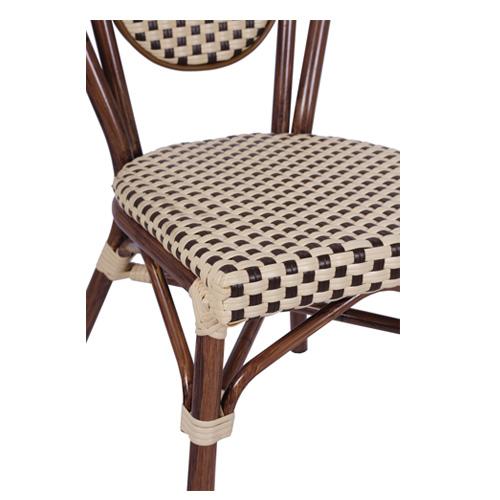 Venkovní židle s možností stohováni umělý bambus