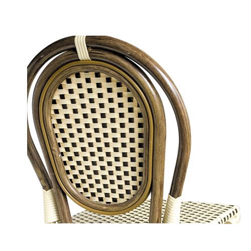 Umělý ratan venkovní židle