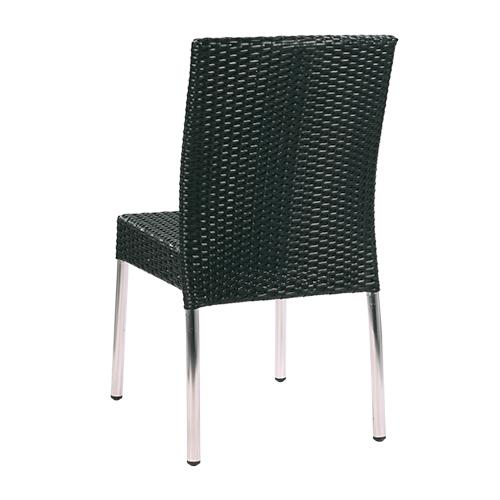 Zahradní židle umělý ratan a hliníkové nohy