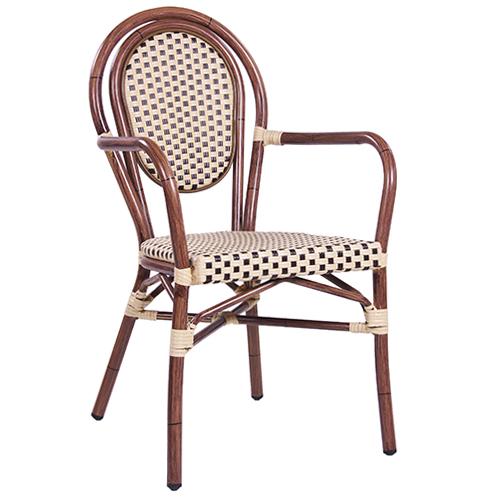 Zahradní židle umělý výplet hliníkové