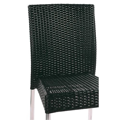 Zahradní židle umělý ratan hliníková konstrukce