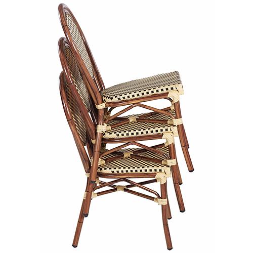 Zahradní židle bambus imitace
