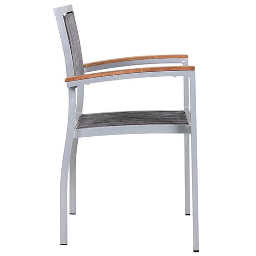 Zahradní židle hliníkové s výpletem