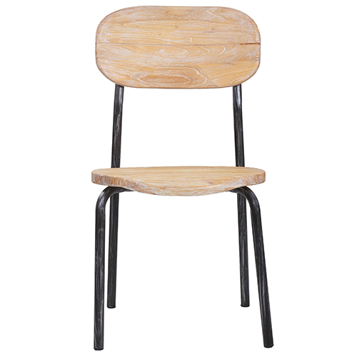 Židle ze stavebního dřeva použitého recyklovaného