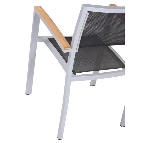 Záhradné stoličky hliníkové s výpletom