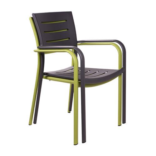 Zahradní židle stohovatelné hliníkové