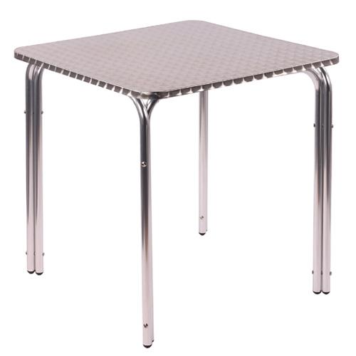 Hliníkové venkovní stoly hranaté