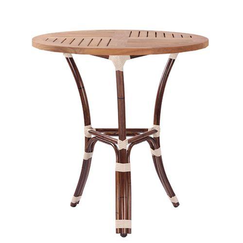 Kovové venkovní stoly BAMBU 3 TEAK D70-25