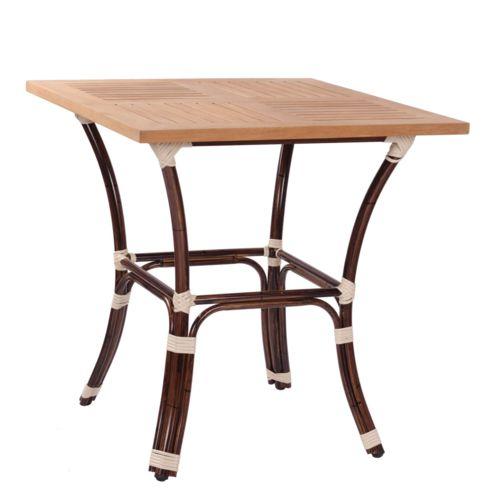 Kovové venkovní stoly BAMBU 4 TEAK H70-25