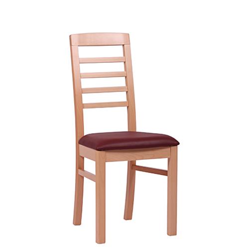 Masivní dřevěná židle pro restaurace.