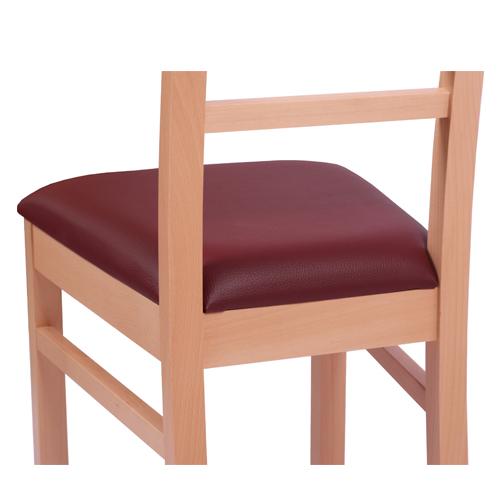 Dřevěné židle pro restaurace čalouněné
