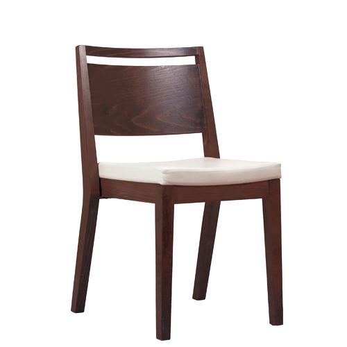 Dřevěná čalouněná židle do restaurace s možností stohování
