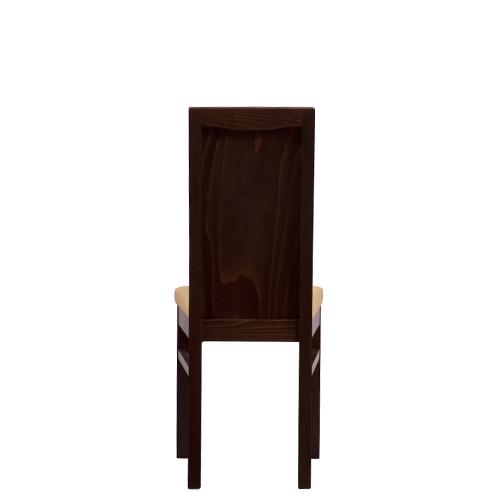 Masivní dřevěná židle s dřevěným opěradlem.