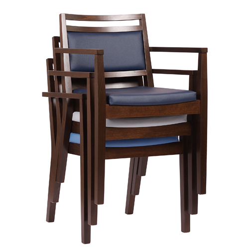Židle s područkou a stohovatelné