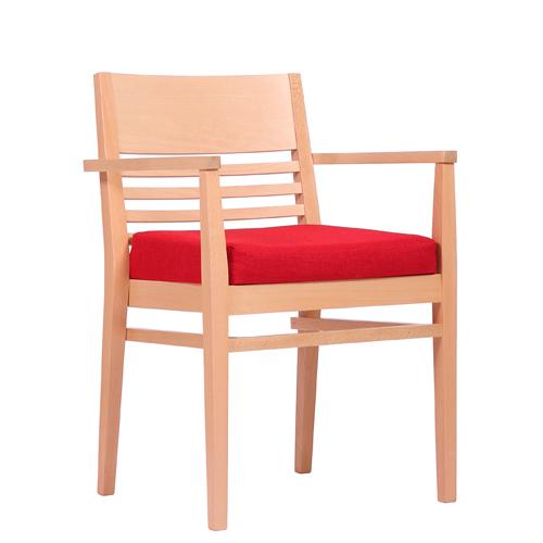 Dřevěná židle čalouněná LAURIN AL STK