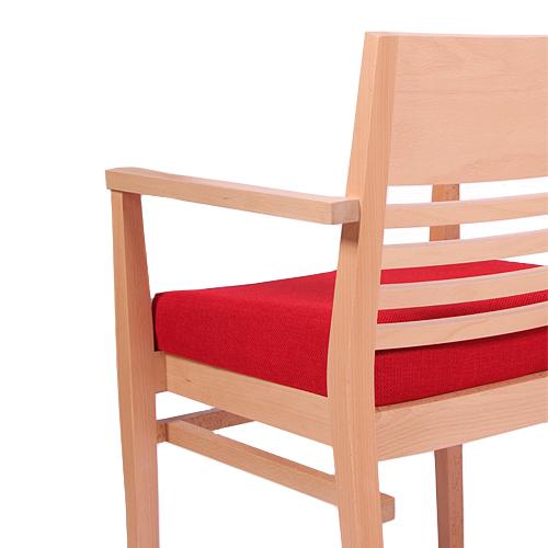 Dřevěné židle zvláštní čalounění zvýšený sedák