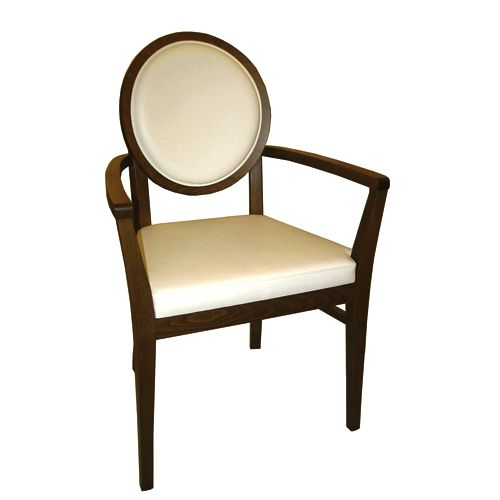 Dřevěná židle s opěradlem medailon ALESSIA XL