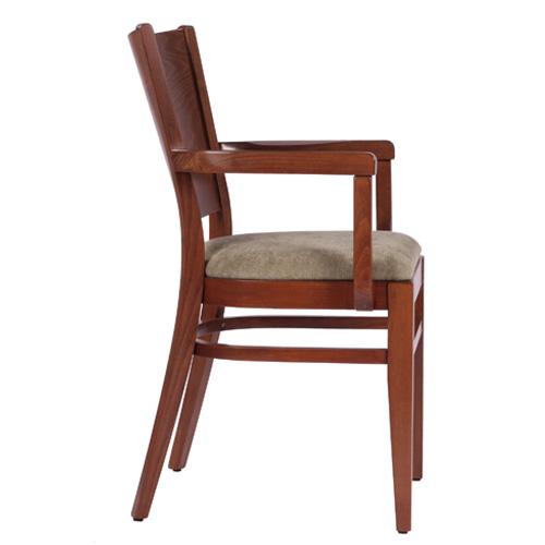 Dřevěné čalouněné židle do restaurace