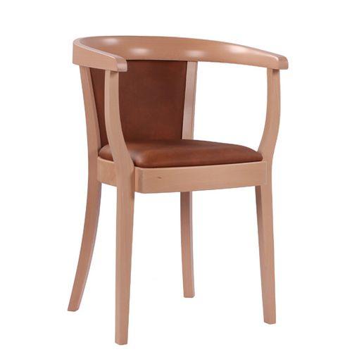 Dřevěné křeslo s čalouněným sedákem
