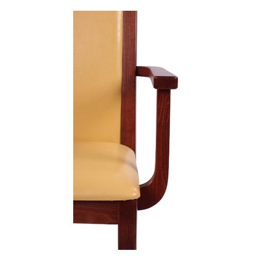 Dřevěné židle pro restaurace s čalouněným sedákem