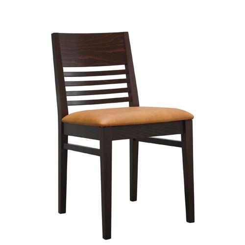 Dřevěná čalouněná židle FINO