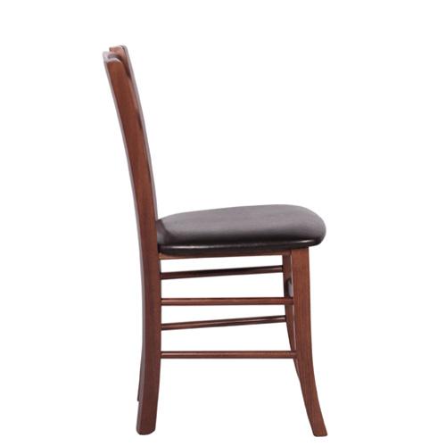 Dřevěná židle čalouněná