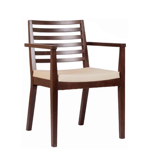 Dřevěná židle LUISA P AL s područkou