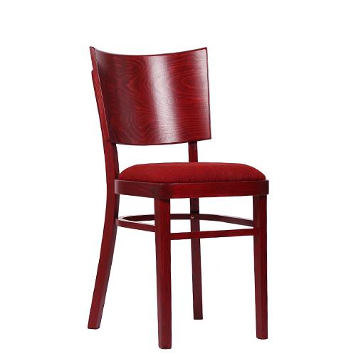 Dřevěná židle čalouněná do restaurace