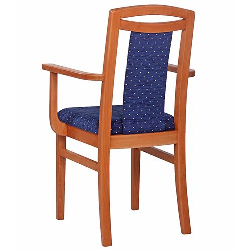 Dřevěné čalouněné židle