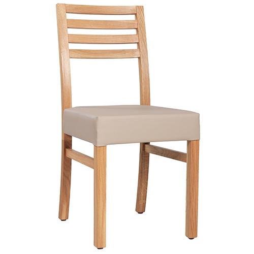 Dubové židle čalouněný sedák do restaurace