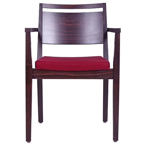 Drevené stoličky do reštaurácie s lakťovou opierkou a možnosťou stohovanie