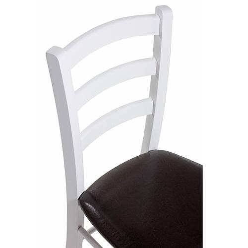 Bílé čalouněné židle