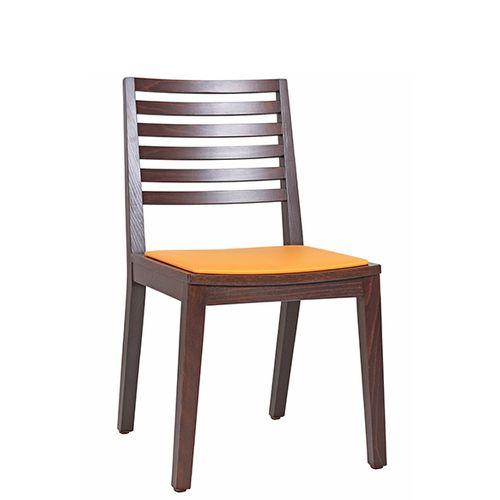 Židle FIN 6SP do restaurace s čalouněným sedákem