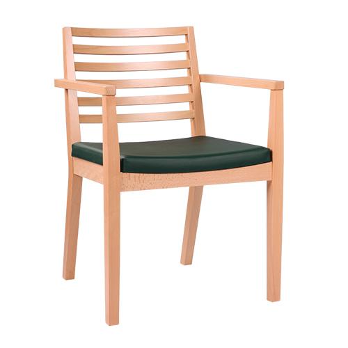 Dřevěné židle pro restaurace s operkou