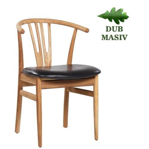 Židle pro restaurace ROMEO dubové dřevo
