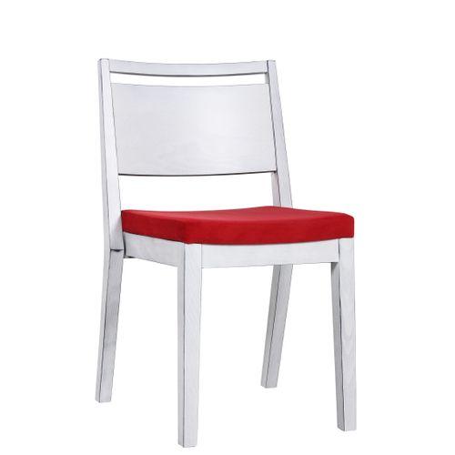 Dřevěná židle čalouněná LUCAS P ST Vintage Look bílá