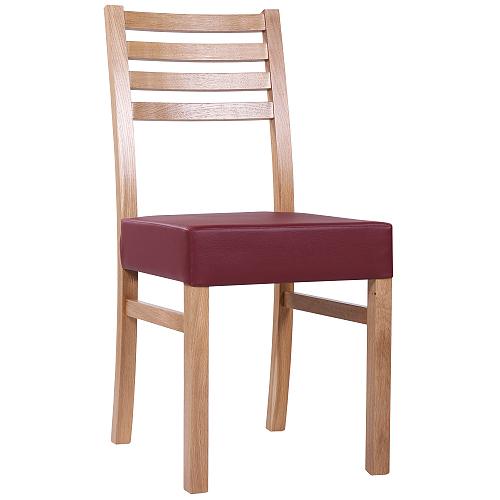 Dubové stoličky čalůnněné