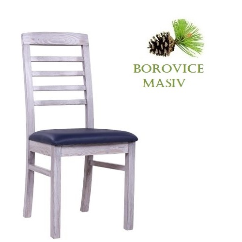Borovicové židle  ROBBIE 4 P v úpravě Vintage bílá