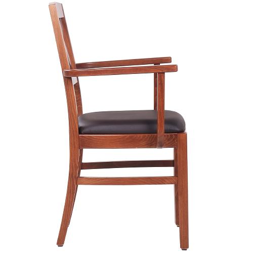 Drevené stoličky do reštaurácie s lakťovou opierkou