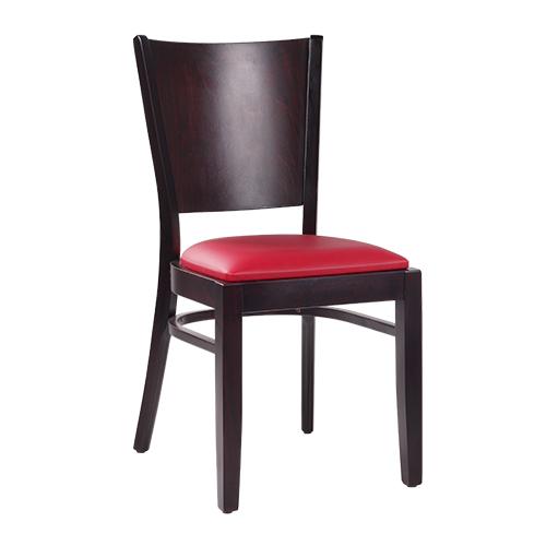 Dřevěná židle čalouněný sedák