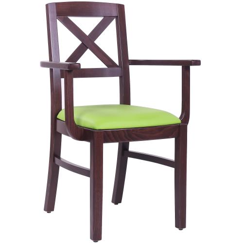 Dřevěné židle do restaurace s područkou
