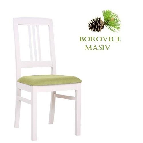 Dřevěné borovicové židle  ROBBIE 3P čalouněný sedák