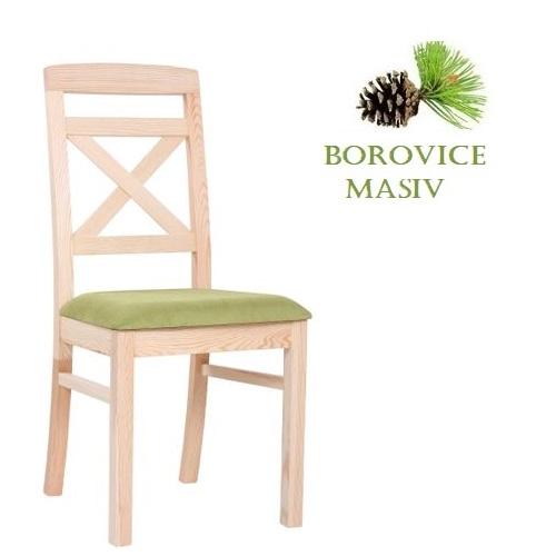 Borovicové židle  ROBBIE 2P čalouněný sedák