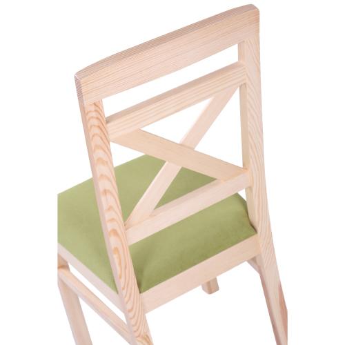 Borovicové židle čalouněný sedák