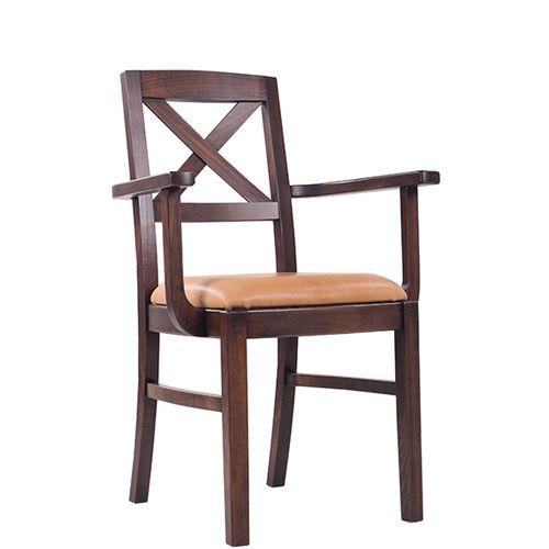 Dřevěné židle do restaurace s loketní opěrkou