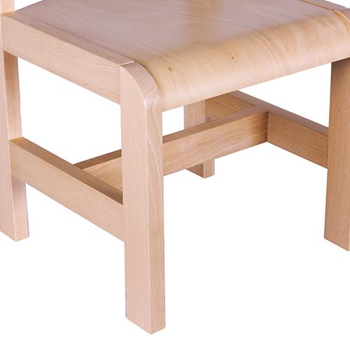 dětské dřevěné židle s krempou