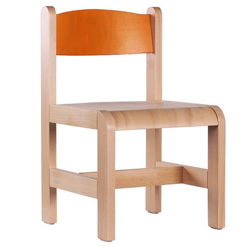 Dětské dřevěné židle barevné
