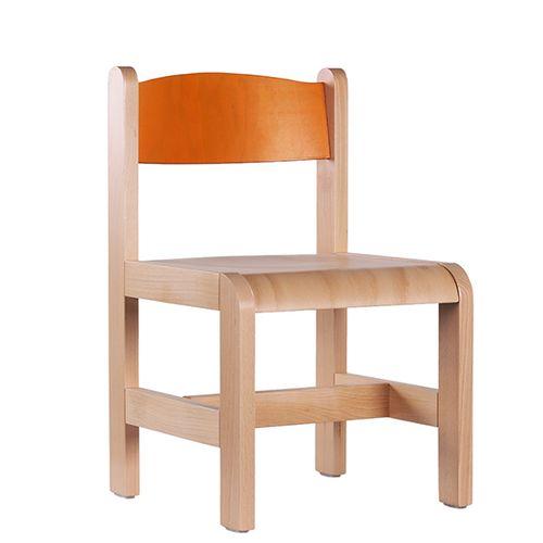Dětské dřevěné židle různé barvy
